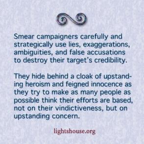 smear campaigners